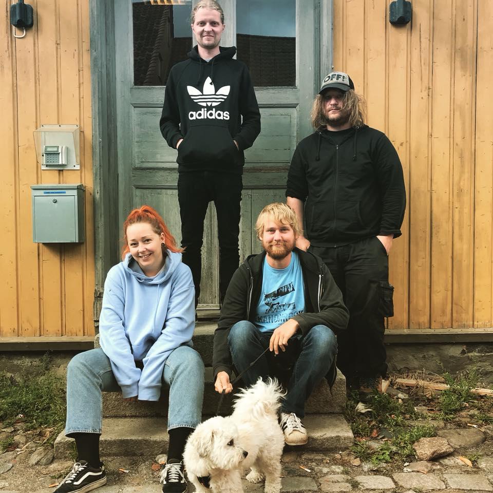 Fra venstre: Beate, Martin, Henrik og Laurits.